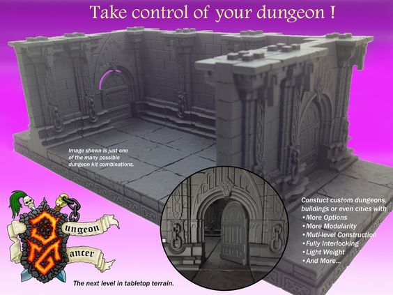 DUNGEONMANCER the next level in forged 28mm gaming terrain.'s video poster