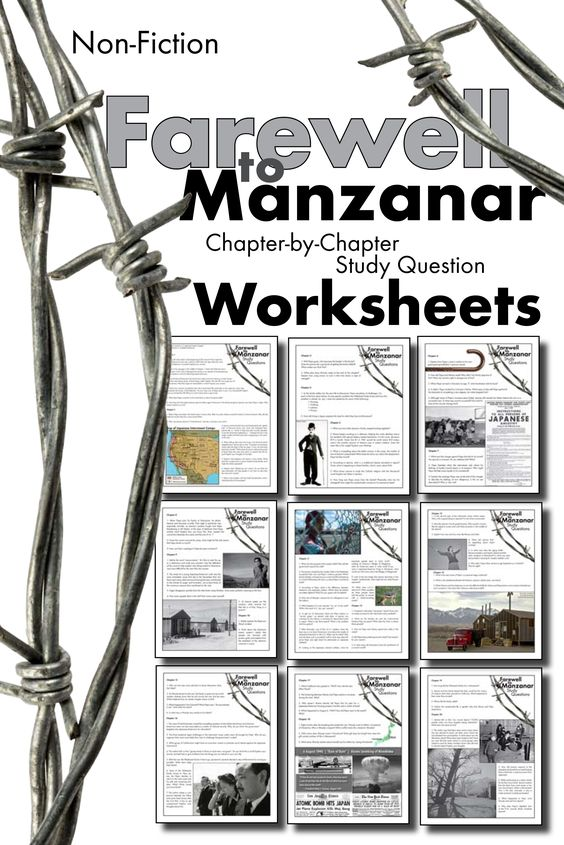 Worksheets Farewell To Manzanar Worksheets english student and the ojays on pinterest use this visually stunning package of chapter by questions as you take your class through jeanne wakatsuki houstons compelling true story