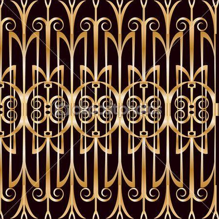 геометрический узор в стиле арт-деко — Векторная картинка #36070475
