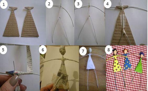 Blog Decoração, Design & Reciclagem: Bonecas Sapecas
