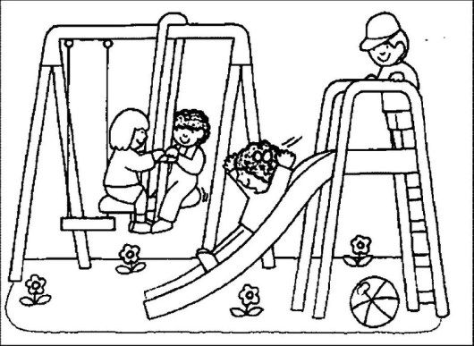 Playground Equipment Coloring Sheet For Kids Coloring Sheets For Kids Penguin Coloring Pages Coloring Pages