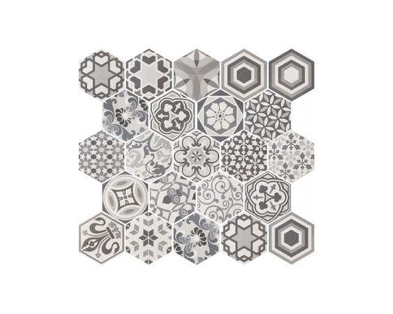 hexagon harmony b w al murad tiles kitchen. Black Bedroom Furniture Sets. Home Design Ideas