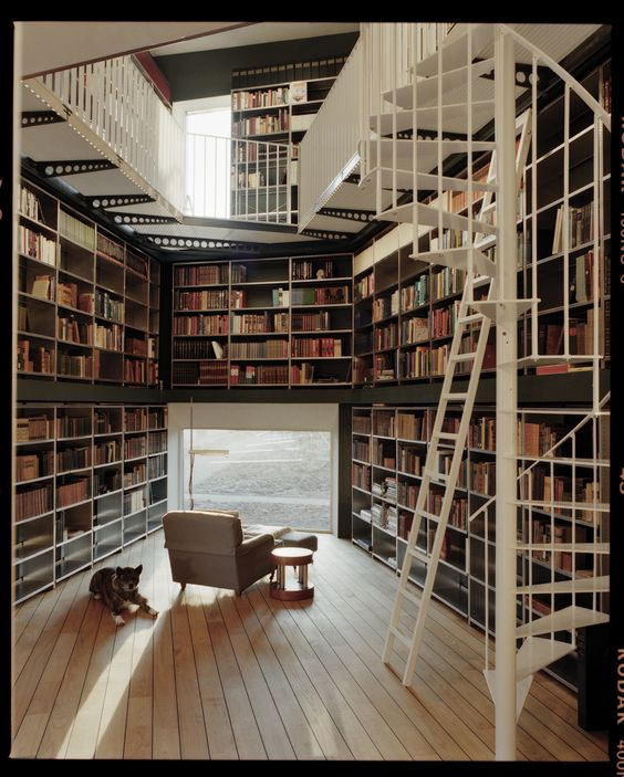 this person's amazing home library: