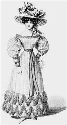 SIIGLO XIX: La seda fina y suave será un tejido muy popular de la época. La parte inferior de las faldas serán decoradas con volados y otros adornos, incluso a veces llevaban adornos de piel