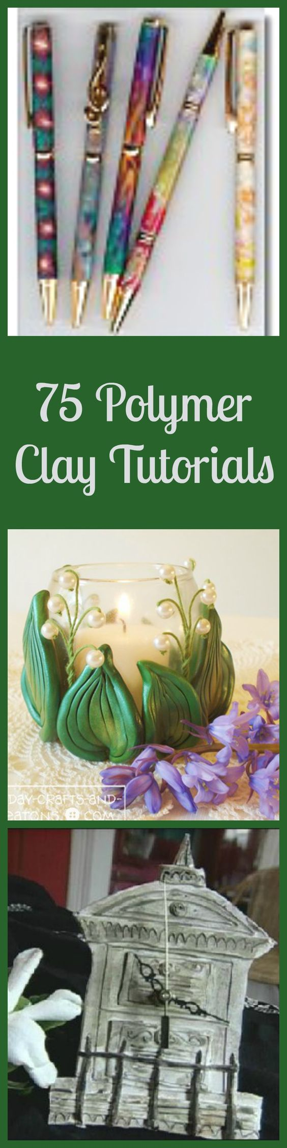 Re-Pin By @siliconem -  75 Polymer Clay Tutorials - one of these is of a wedding chapel - loved it! http://weddingmusicproject.bandcamp.com/album/brides-guide-to-classical-wedding-music