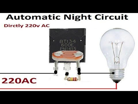 Street Light Automatic On Off Direct With 220ac Using Transistor