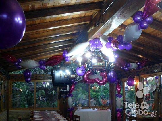 Decoraci n con globos para 23 cumplea os decoraciones - Decoracion con globos para cumpleanos ...
