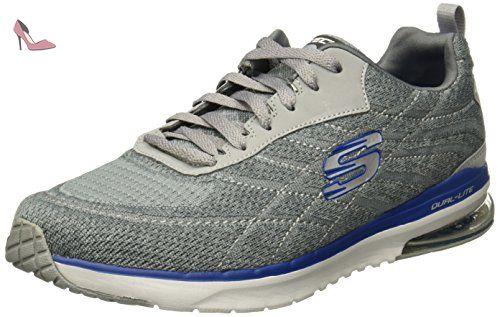 Burst TR-Locust, Chaussures de Running Homme, Bleu (Navy/Grey), 41 EUSkechers