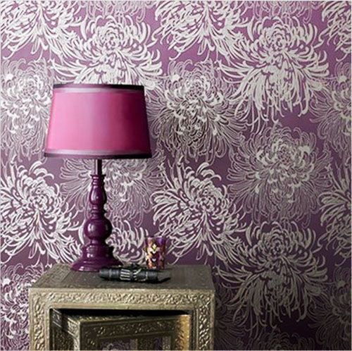Wall Design Violet : Love this wall paper graham brown i think violet