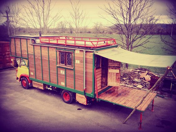 Kaya Box - A hand-built motor caravan in the UK. Its a 1973 Bedford tk, stripped right back and customised for full time living. Rustic interior but cutting edge tech with rolls Royce batteries, 600w solar generation, rainwater harvesting system, hot shower and wetroom with compost collections toilet system, and 2500w pure dine wave inverter.  ~ click on photo for more ~