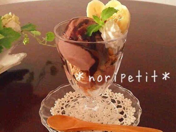 材料3つ♡簡単ヘルシーお豆腐チョコアイスの画像