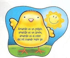 El Blog De Marybel Librito Del Color Amarillo Poemas Cortos Para Ninos Poesia Para Ninos Letras De Canciones Infantiles