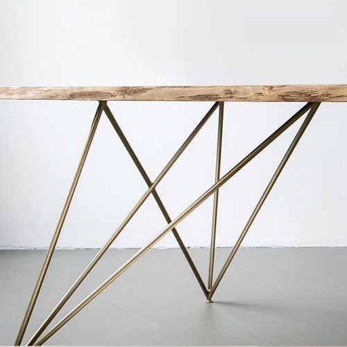 Table Design Berlin En Chene Pied Laiton Sur Mesure For Me Lab Table Design Chene Table