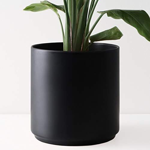 Amazon Com Peach Pebble 8 Ceramic Planter 15 12 10 8 Or 7 Large Black Plant Pot Hand Glazed Indoo In 2020 Indoor Planters Indoor Flower Pots Planters