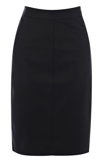 This stylish pencil skirt features stitching detail on the front for a streamlined finish. The piece has a split detail at the bottom of the hem and a concealed zip fastening on the reverse.