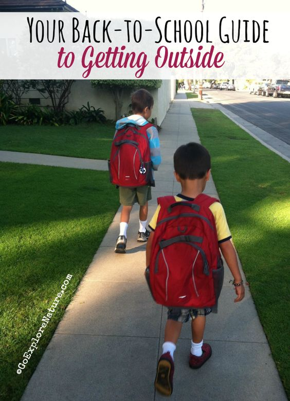 Looking for simple ways to spend more time outdoors now that school is back in session? Check out your back-to-school guide to getting outside.