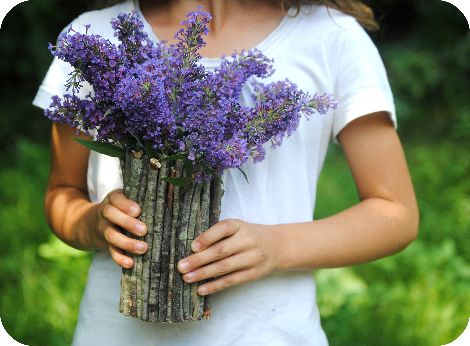 Twig vase: Mother, Diy Craft, Diy Project, Masonjar, Recycled Jar