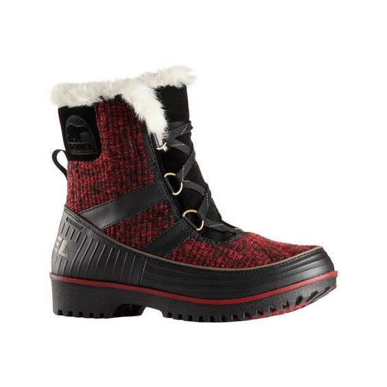 Women's Sorel Tivoli II Fur Boot - Red Dahlia/Mud Casual ($98) ❤ liked on Polyvore featuring shoes, boots, casual, winter boots, fur shoes, sorel boots, sorel footwear, red winter boots and winter fur boots