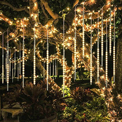 Bluefire Upgraded Meteor Shower Rain Lights A Sizzling Series Led Christmas Lights For Decoration Rain Lights Meteor Lights Led Lights Wedding