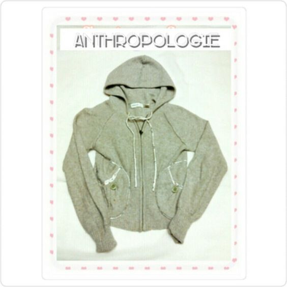 ANTHRO  SWEATER THIS COULD FIT A CHILD! SLEEPING ON SNOW - BEIGE ANTHROPOLOGIE SWEATER Beautiful & soft Cashmere sweater with hood. 40% Cotton,33% Wool,20% Nylon and Cashmere ( on label ) Can be hand washed & laid out flat. THIS ALSO COULD FIT A SMALL CHILD!! Anthropologie Sweaters