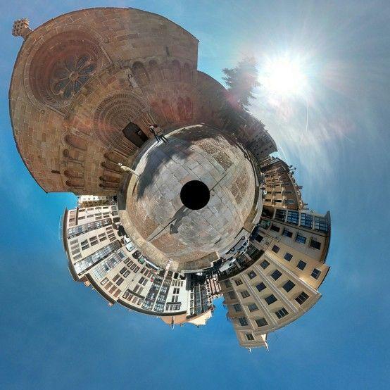 Fotografía esférica de la Iglesia de Santo Domingo, Soria.