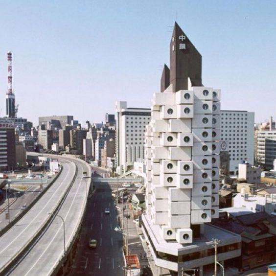 Nakagin Castelo high rise prédio de apartamentos, Tóquio.