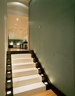 lighted stairs: