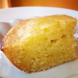 Substituted in 1 cup corn flour for one of the cups of all purpose flour.  Great flavor & texture.  Sweet Cornbread Cake - Allrecipes.com