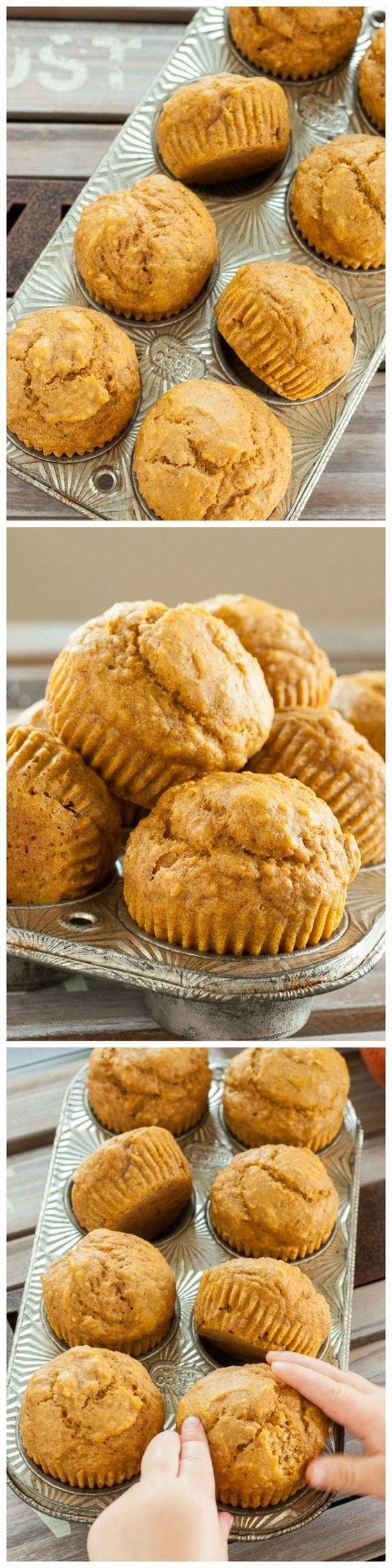 - Quick and easy #Pumpkin Muffins, sweetened naturally with maple ...