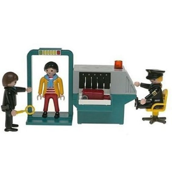 The NSA playset by Playmobil. Security wand and metal detector included. Sharp carry-on objects, shampoo and handcuffs not included. Around $60.