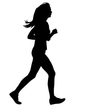 Running Women Silhouettes Illustration Silhouette Illustration Silhouette Logo Silhouette