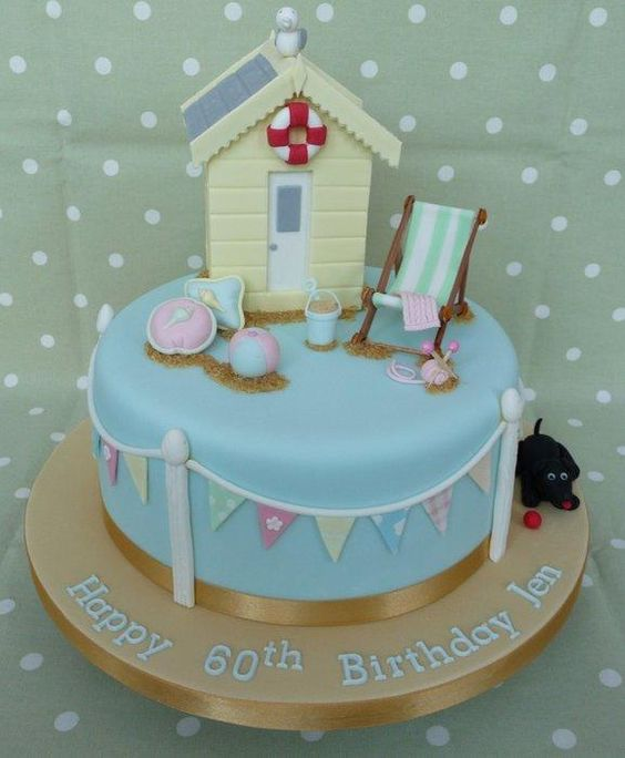 Beach Hut Cake  ...♥♥...