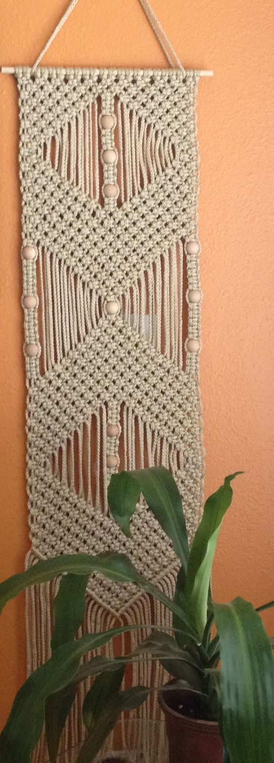Macrame wall hangings patterns and inspiration on pinterest Crochet home decor on pinterest