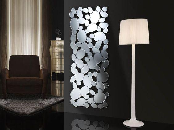 Espejo moderno de cristal petra rectangular decoracion for Espejos de decoracion modernos