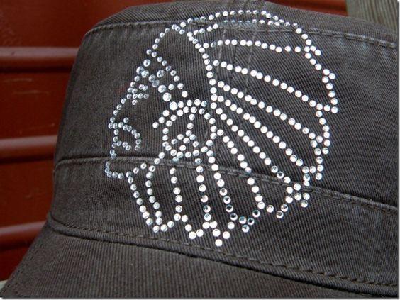 Rhinestone Chief Hat Cadet Style Chocolate $12.99 http://www.dumbblondeboutique.com/rhchhatcastc.html