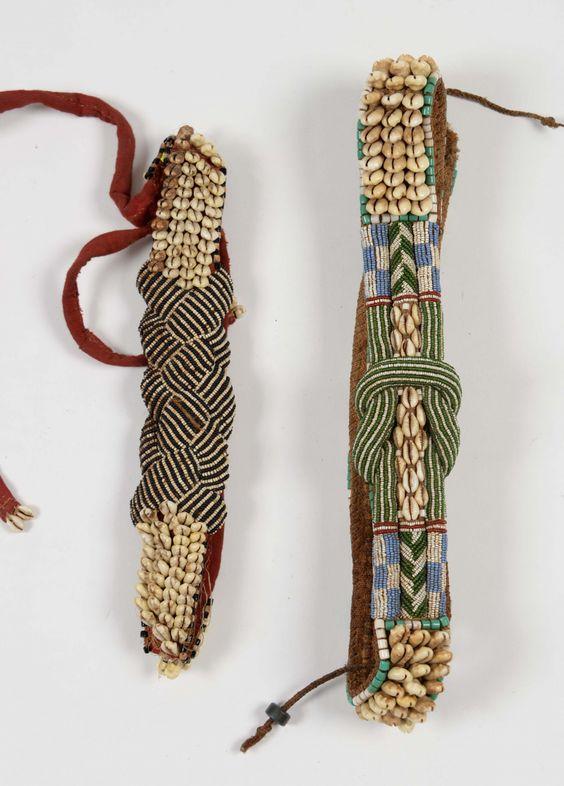 Deux ceintures perlées d'apparat, Kuba... - Auction