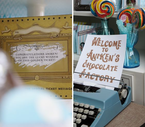 decoración fiesta cumpleaños Charlie y la Fábrica de Chocolate Willy Wonka Charlie and the Chocolate Factory party decoration miraquechulo