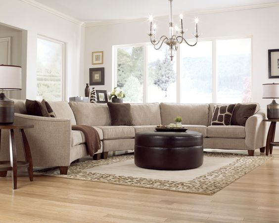 A Classic Curve Sectional From Ashley Furniture