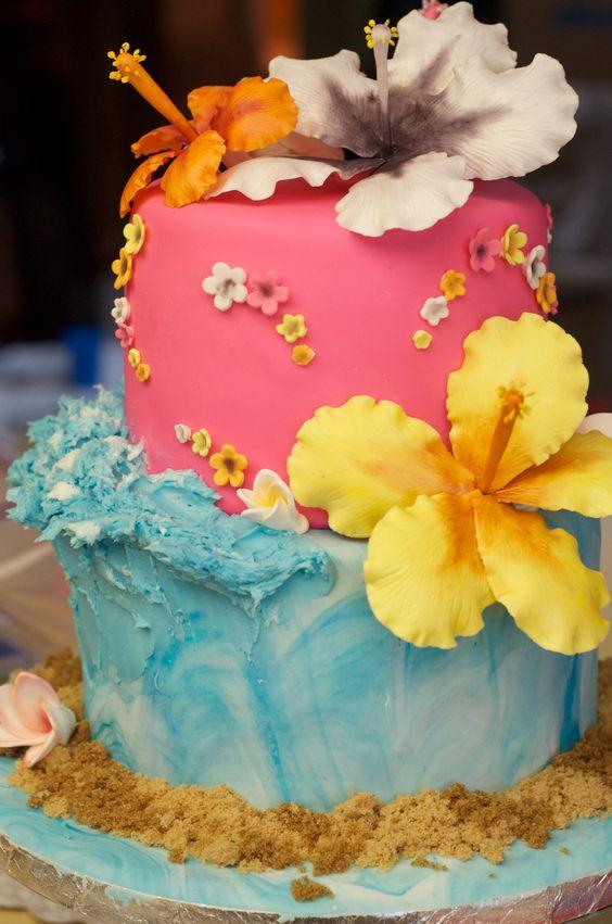 Birthday cakes, Hibiscus and Birthdays on Pinterest