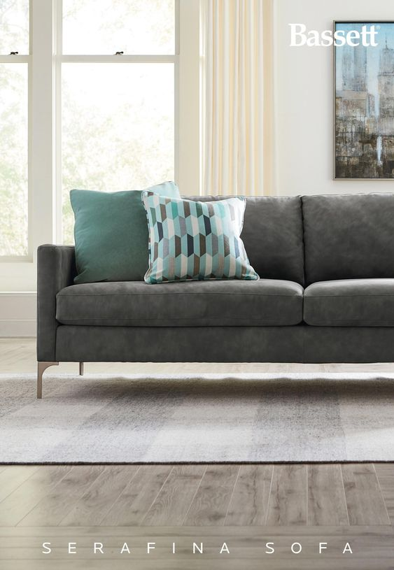 Serafina Leather Sofa Living Room Furniture Furniture Living Room