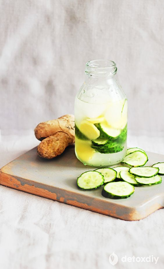 cucumber lemon ginger detox water