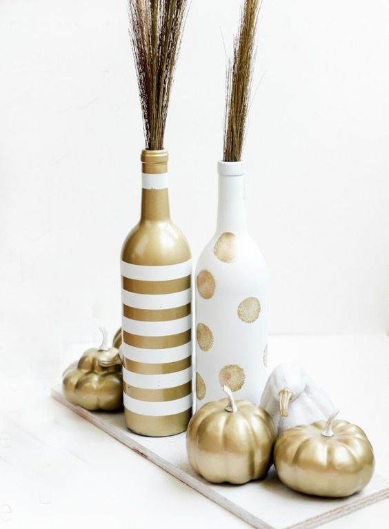 Upcycle your way to chic Thanksgiving table decor.