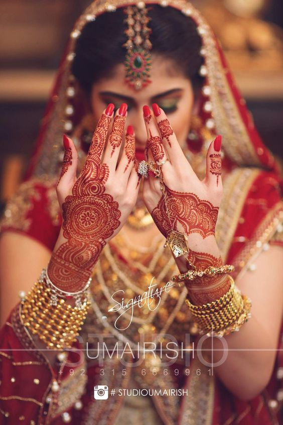 Henna Tattoo For Indian Wedding: Umairish Studio Photography