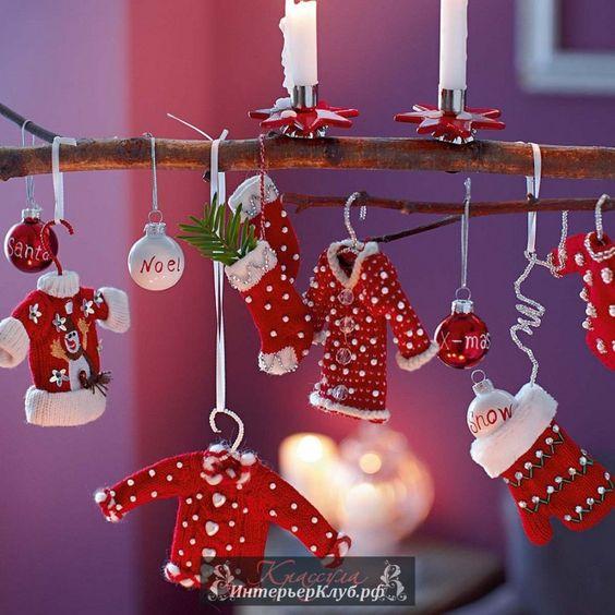 Идеи украшений для нового года своими руками