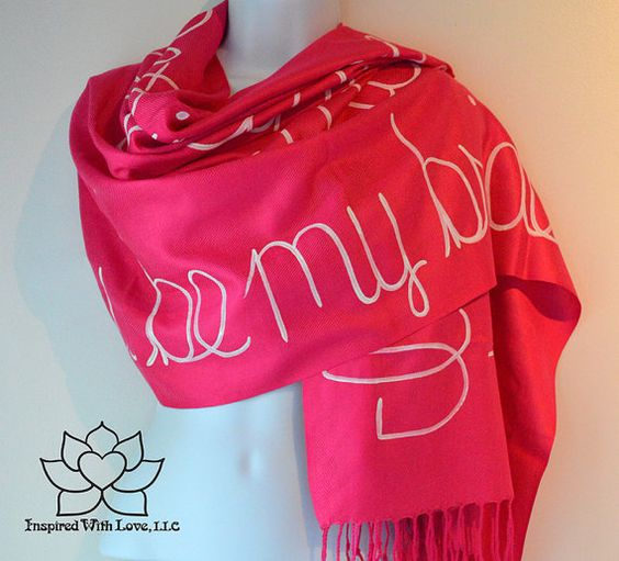 Custom Pashmina Script Scarf by InspiredWithLoveLLC on Etsy