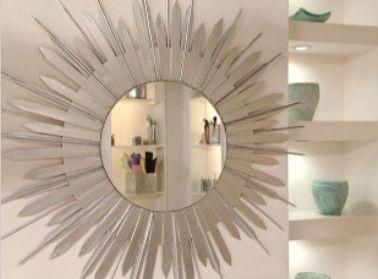 Marco para espejo redondo portal de manualidades for Espejo redondo plateado