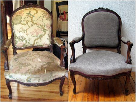 Bricolage and photos on pinterest for Comment recouvrir un fauteuil