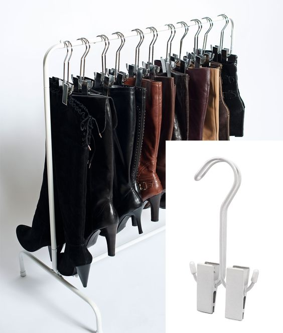 White boot hanger. Shoe organization. I need at least 3 of these!!!