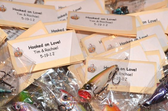 fishing lure favors - A little cheesey