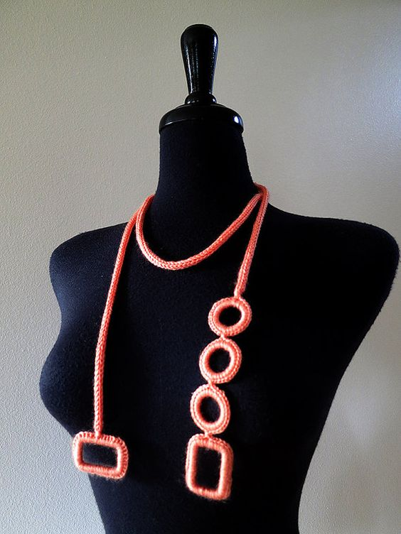 MADE TO ORDER Beautiful Coral Color Statement by KnitsomeStudio